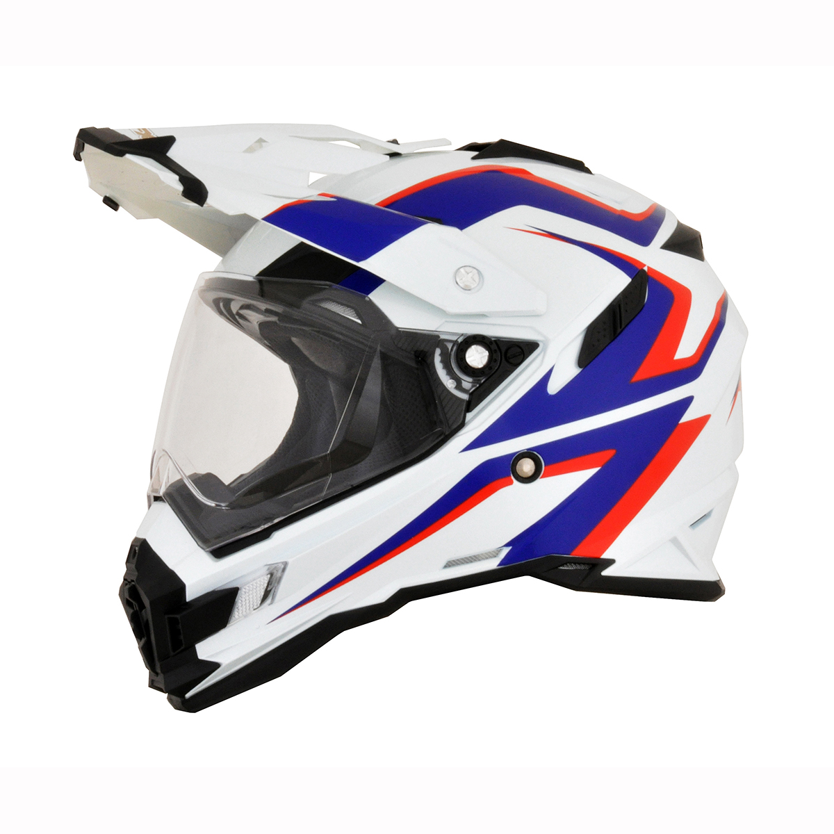 NEW SAFTEY ORANGE AFX FX-41DS HELMET ALL SIZES DUAL SPORT ATV UTV FREE SHIP