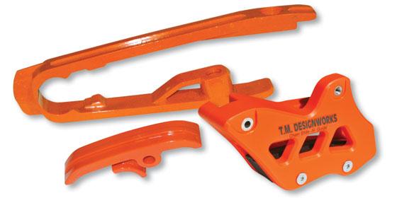 T.M Designworks Dirt Cross Multi-Purpose Chain Slide-N-Guide Kit DCK-OR1-RD