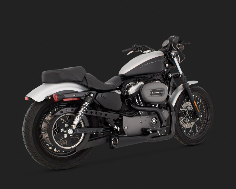 VANCE AND HINES COMPETITION SERIES 2-INTO-1 BLACK 2004-2013 SPORTSTER