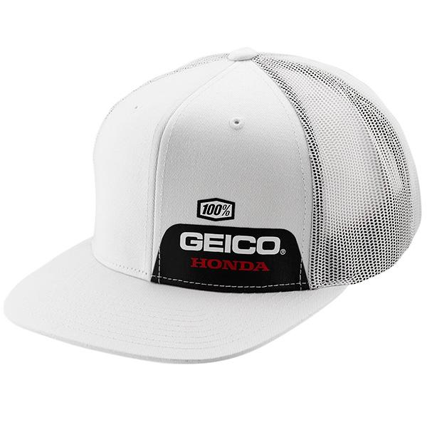100%  Geico Honda Echo Snapback Trucker Hat